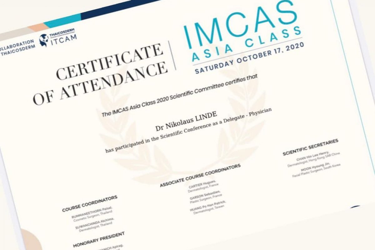 Weiterbildung an der eintägigen IMCAS Asia Class 2020